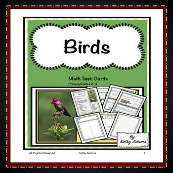 Birds Math Task Cards