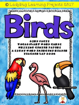 Birds Mega Bundle (Emergent Reader, Lap Book, and Vocabulary Word Cards)