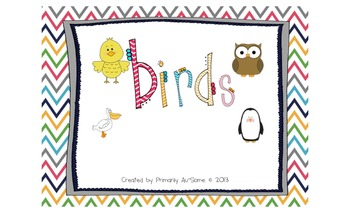 Birds Mini-Book (for students with Autism & Communication