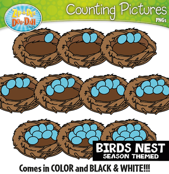 Birds Nest Counting Pictures Clipart {Zip-A-Dee-Doo-Dah Designs}