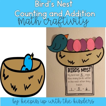 Birds Nest Counting and Addition Craftivity