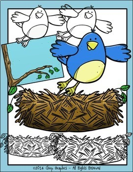 Birds, Nests, and Birdhouses Clip Art Set - Chirp Graphics