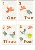 Birds Number Cards 1-10