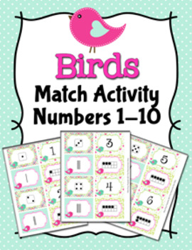 Birds Numbers 1-10 Match Activity