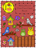 Birds, Owls, and Flower Power Clipart Bundle