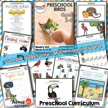 Birds Preschool Unit - Printables for Preschool, PreK, Homeschool Preschool