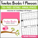 Bird Teacher Binder