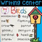 Birds Pictionary Cards - Vocabulary, Writing Center, Write