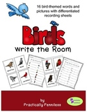 Birds Themed Write the Room
