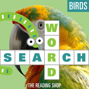 Birds Word Search for Primary Grades - Wordsearch Puzzle