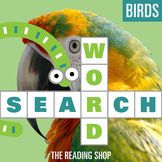 Birds Word Search Puzzle - 3 Levels Differentiated