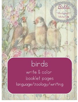 Birds - Write & Color Booklet Pages