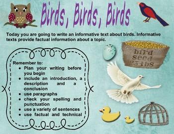 Birds Writing Stimulus