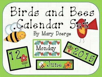Birds and Bees Calendar Set