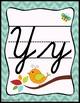 Birds and Burlap Cursive Alphabet Posters