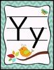 Birds and Burlap Theme Alphabet Print Posters