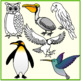 Birds and Fishes Clipart (Animals)