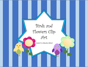 Birds and Flowers Clip Art