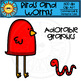 Birds and Worms Clip Art