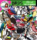 Birds clip art - Big set of 84 items!