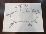 Birds in Nest Coloring Sheet Clip Art