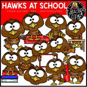 Birds of Prey At School Clip Art Bundle {Educlips Clipart}