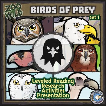 Birds of Prey - Set 1 - Leveled Reading, Slides & Activities