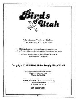 Birds of Utah PDF Book