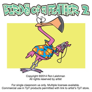 Birds of a Feather 2 Cartoon Clipart