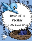 Science Math and Language Arts Unit About Birds- Primary Grades