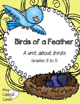 Science Math and Language Arts Unit About Birds- Elementar