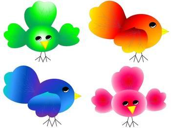 Birds of a Feather CLIP ART