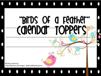 Birds of a Feather Calendar Toppers