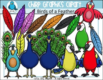 Birds of a Feather Clip Art Set - Chirp Graphics