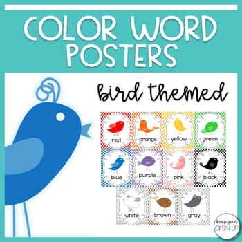 Birds of a Feather- Color Word Posters
