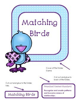 Matching Colors and Patterns:  Birds of a Feather File Folder Game