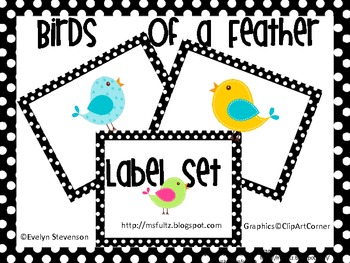 Birds of a Feather Label Set