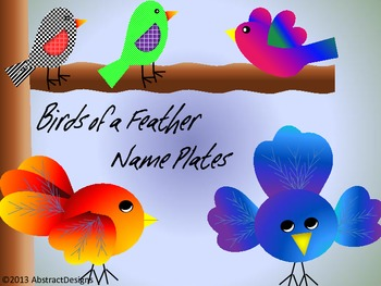 Birds of a Feather Name Plates