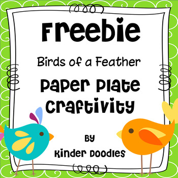 Birds of a Feather Paper Plate Craftivity