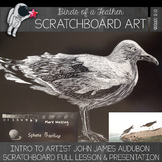 Birds of a Feather Scratchboard Drawing Lesson - High School Drawing Lesson