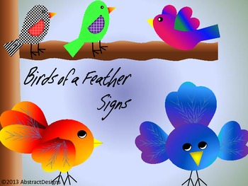 Birds of a Feather Signs