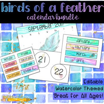 Birds of a Feather Watercolor Calendar Bundle