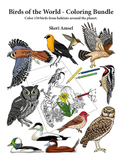Birds of the World - Coloring Bundle (For all ages).