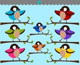 Birds on Tree Branch2 Clip Art