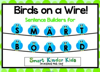 Birds on a Wire - Sentence Builders for SMARTboard