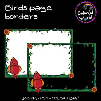 Birds page borders