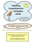Birds - reading comprehension clothespin cards