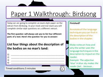 Birdsong: AQA Paper 1 Practice