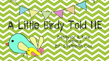Birdy Rules and Behavior Posters