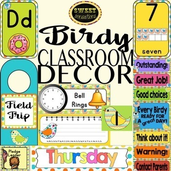 Birdy Themed Classroom Decor Bundle